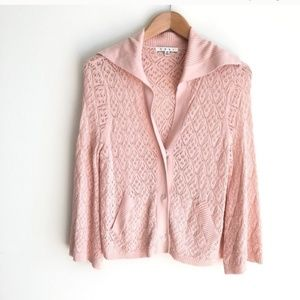 [CAbi] #918 Pointelle Knit Embrace Cardigan Pink